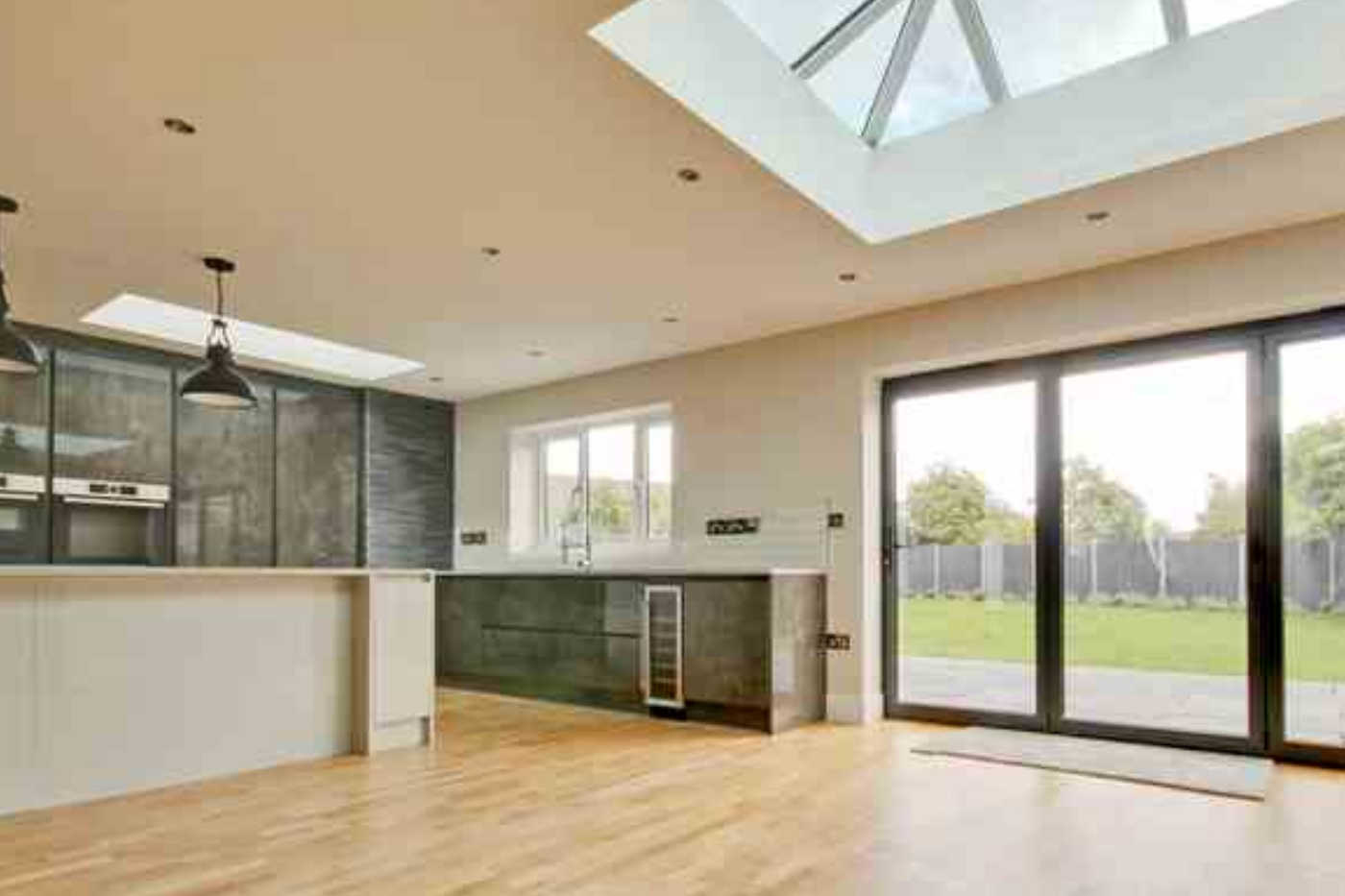 Project 1021 Internal kitchen dining room with roof lanterns